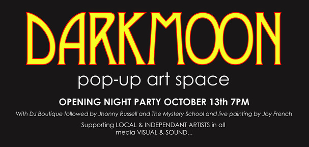 Darkmoon pop up art space, Michelle Agius, agiusart,